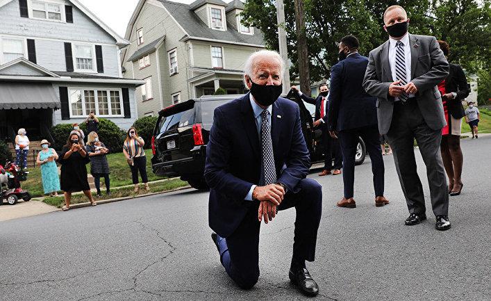 Джо Байден во время визита в свой родной город Скрэнтон, штат Пенсильвания