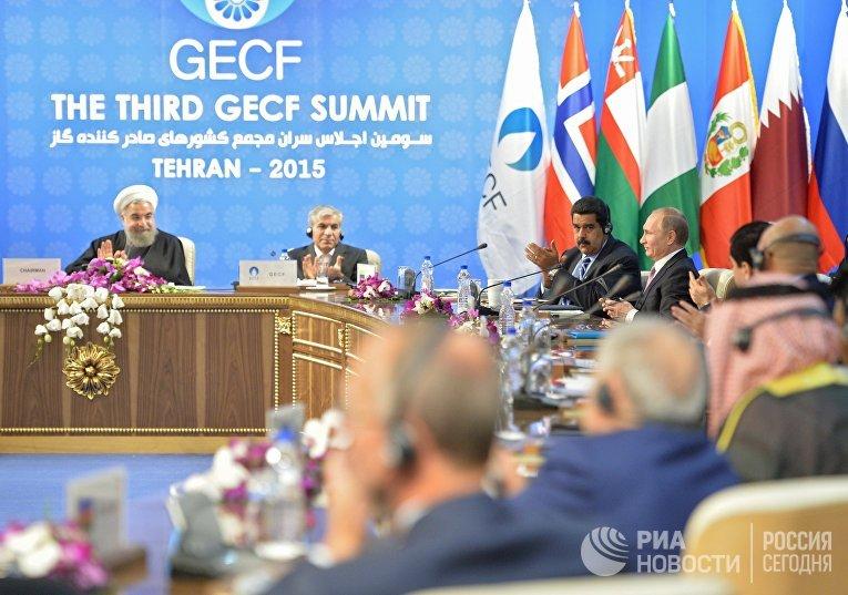 Владимир Путин на саммите глав государств и правительств стран-участниц Форума стран-экспортеров газа (ФСЭГ) в Тегеране