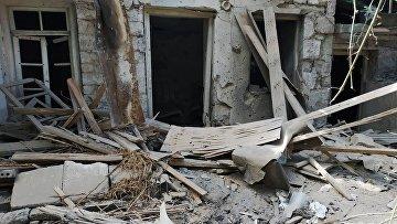 Последствия обстрела на армяно-азербайджанской границе
