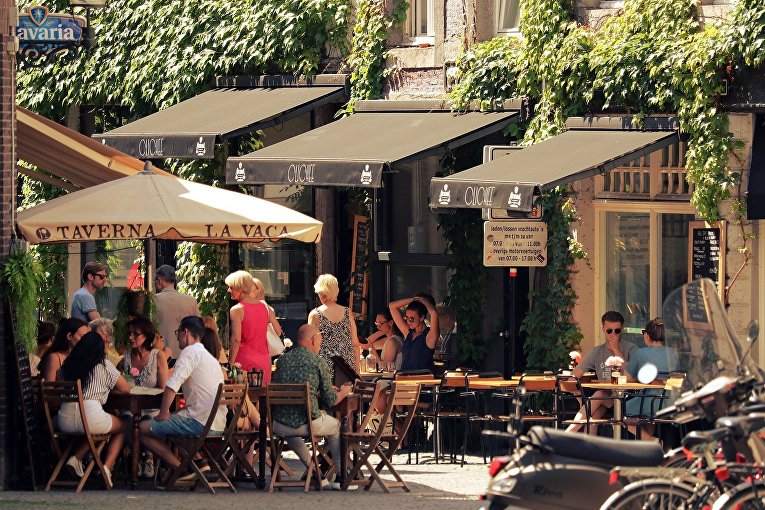 Летние веранды кафе в городе