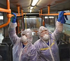 Санитарная обработка общественного транспорта