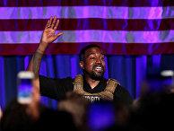 Рэпер Канье Уэст во время митинга в штате Южная Каролина
