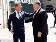 Госсекретарь США Майк Помпео встречается с главой МИД Дании Йеппе Кофодом, Копенгаген, Дания