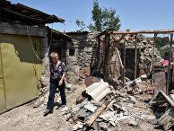 Частный дом, пострадавший от бомбежек в селе Айгепар Тавушской области