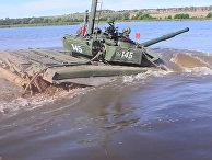 Подводное вождение танков в Оренбургской области