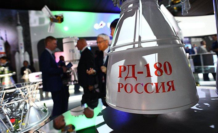 Российский двухкомпонентный жидкостный ракетный двигатель закрытого цикла РД-180