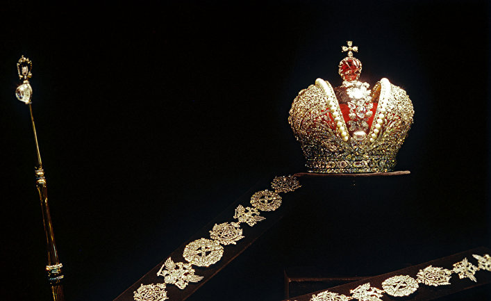 Большая императорская корона, скипетр и бриллиантовая цепь Екатерины II