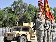 """Церемония смены командования на американской военной авиабазе """"Манас"""""""