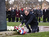 Церемония возложения венков в день памяти жертв Холокоста в Лондоне