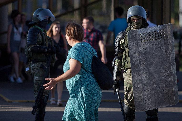 Акции протеста в Минске, Белоруссия