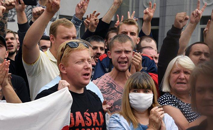 Акция работников Минского тракторного завода