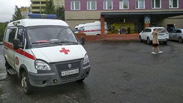 Здание больницы в Омске, куда был госпитализирован Алексей Навальный