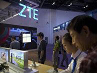 Стенд китайской ZTE на выставке PT Expo в Пекине