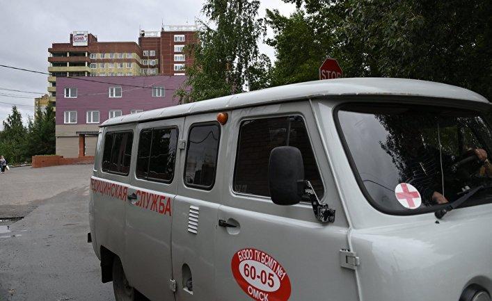 Больница в Омске, где находится А. Навальный