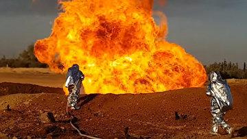 Взрыв на газопроводе в Сирии