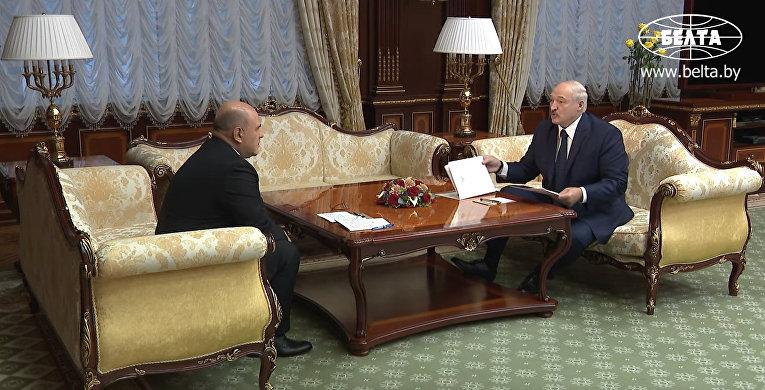 Встреча Александра Лукашенко и Михаила Мишустина
