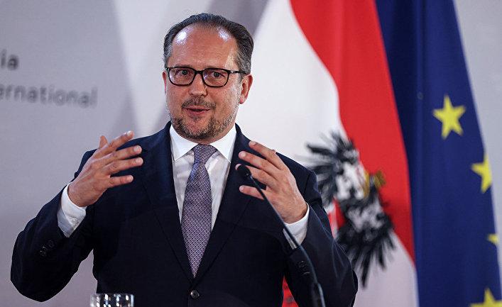 Министр иностранных дел Австрии Александр Шалленберг