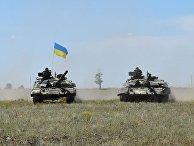 ВСУ провели танковые учения на юге Украины