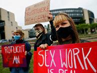 Акция протеста против закрытия борделей в Дюссельдорфе, Германия
