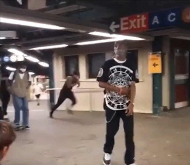 Fearless NYC subway rider jumps several feet across platform just in time to board incoming train