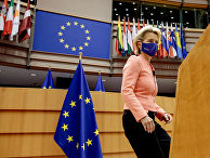 Президент Европейской комиссии Урсула фон дер Ляйен выступает в Брюсселе, Бельгия