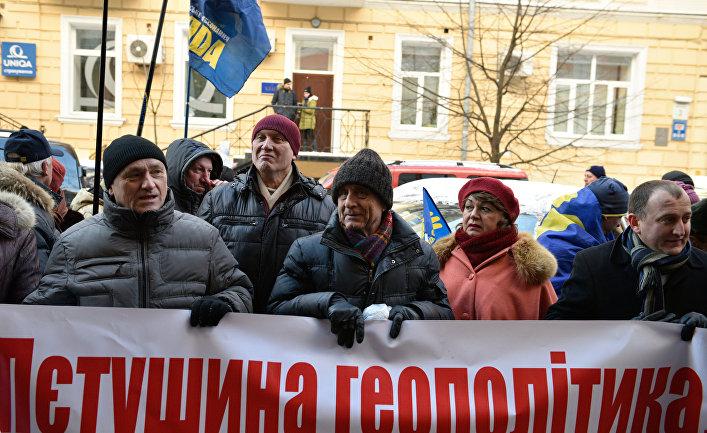 Митинг против принятия квоты на расселение мигрантов на Украине