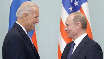 Встреча Владимира Путина с Джозефом Байденом в Москве 10 марта 2011 года