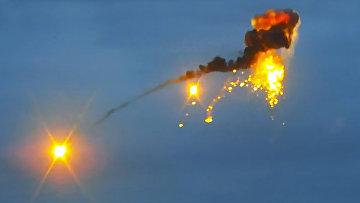 Сбитый ракетой азербайджанский беспилотный летательный аппарат
