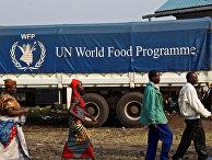 Грузовик Всемирной продовольственной программы ООН в Конго