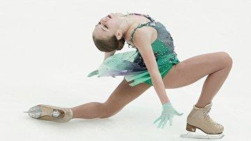 Александра Трусова выступает с короткой программой