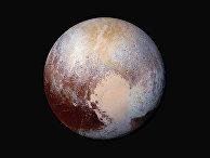 Снимок планеты Плутона, сделанный автоматической межпланетной станцией «Новые горизонты»
