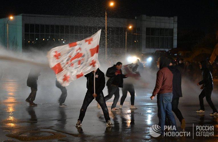 Акция протеста в Грузии