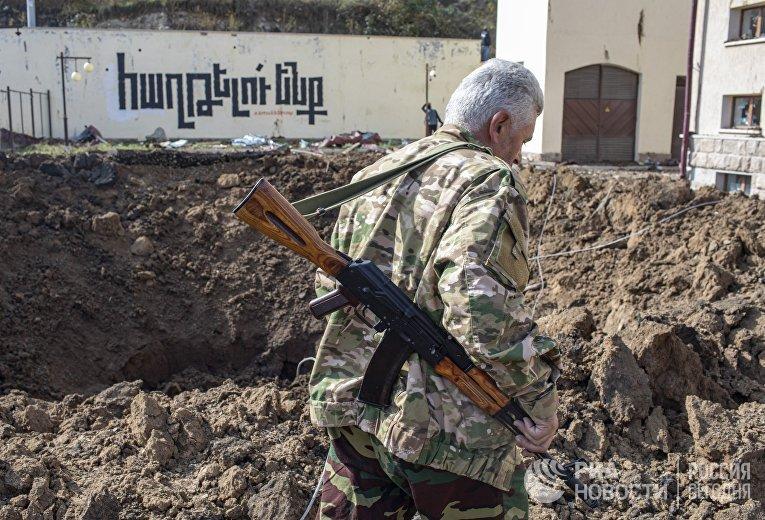 Нагорный Карабах во время обострения конфликта