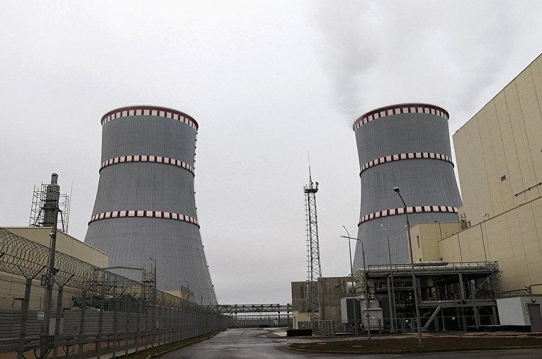 Запуск БелАЭС недалеко от города Островец