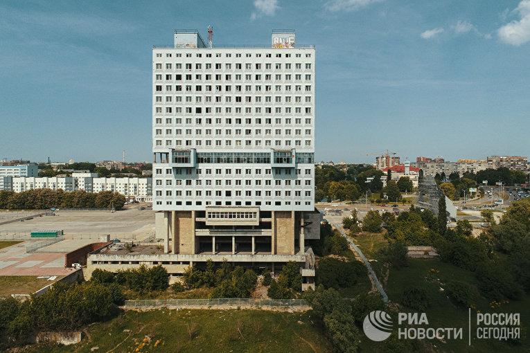 Недостроенное здание Дома Советов в Калининграде