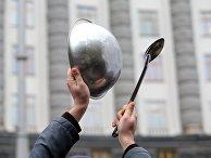 Акция против карантинных мер на Украине