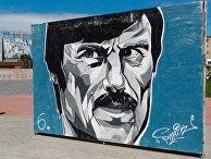 Андрей Тарковский, граффити на аллее Славы в Иванове
