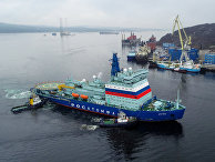 """Прибытие атомного ледокола """"Арктика"""" в Мурманск"""