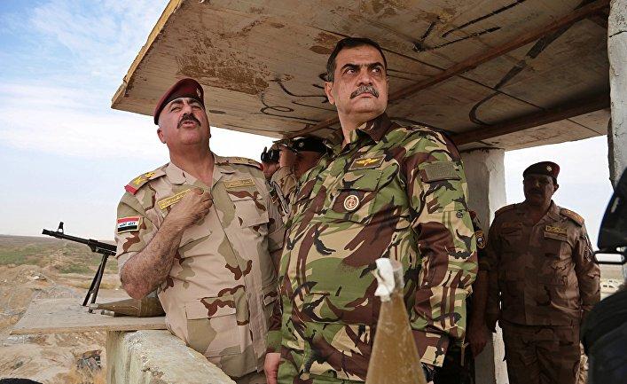Министр обороны Ирака Наджах аш-Шаммари инспектирует вооруженные силы на границе с Сирией