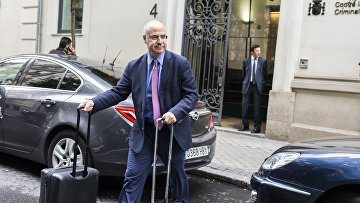 Уильям Браудер после встречи со старшим прокурором Хосе Гринде в Мадриде. 30 мая 2018