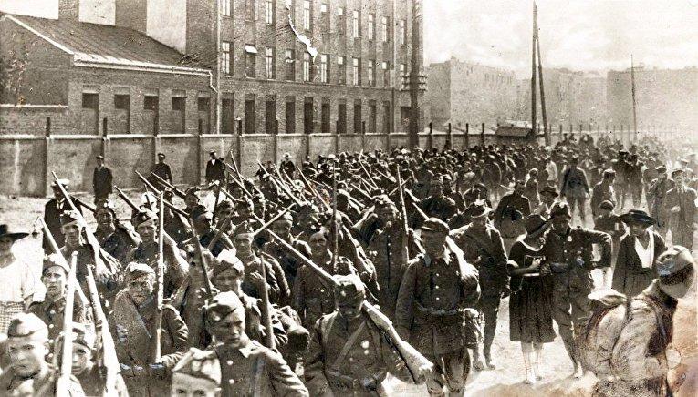 Пехота польской армии во время Варшавской битвы