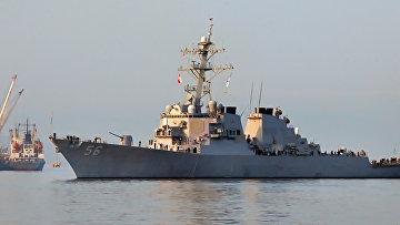 """Во Владивосток с официальным визитом прибыл американский эсминец """"Джон Маккейн"""""""