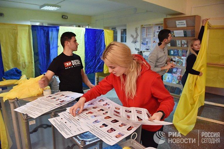 Подготовка избирательных участков на Украине к региональным выборам