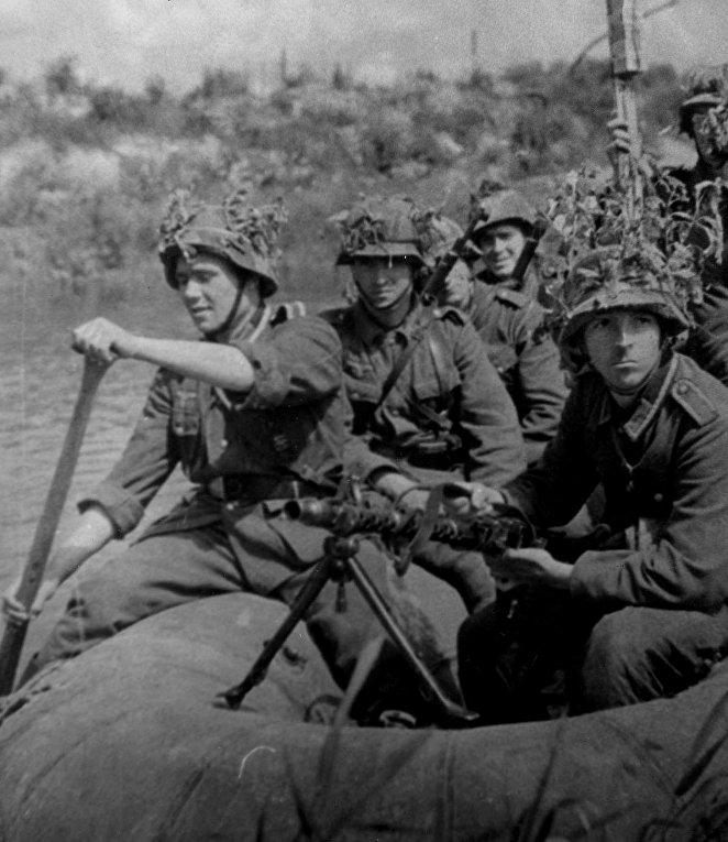 Солдаты «Голубой дивизии» на Восточном фронте