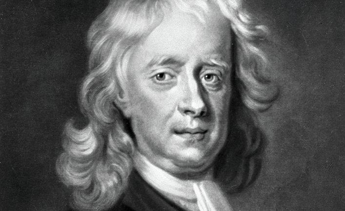 """Репродукция гравюры Мака Арделлы """"Исаак Ньютон"""""""
