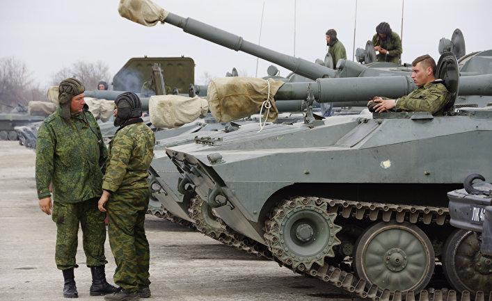 Военная техника в Луганской области.