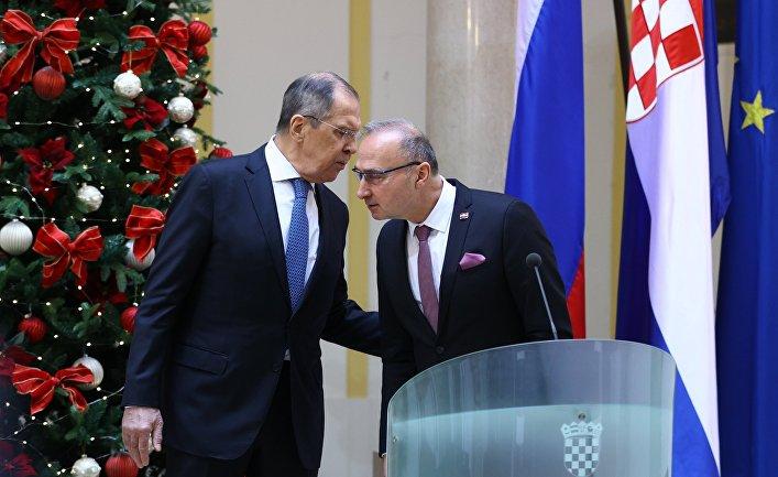 Визит главы МИД РФ С. Лаврова в Хорватию