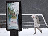 Снегопад в Красноярском крае