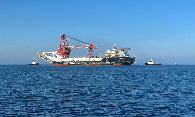 Судно-трубоукладчик «Фортуна» вБалтийском море