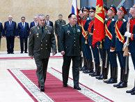 Встреча в Москве министра обороны РФ Сергея Шойгу и заместителя председателя Центрального военного совета КНР Чжана Юся